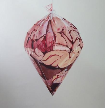 3- Fábio Magalhães - Sem Título (Série Retratos íntimos) Óleo sobre Tela - 150 x 150 cm - 2013