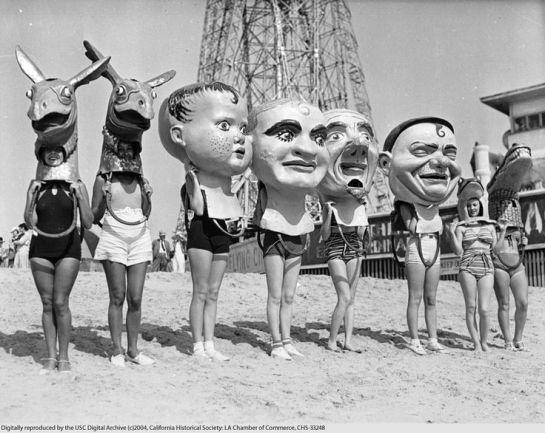 beach in Venice, ca.1930