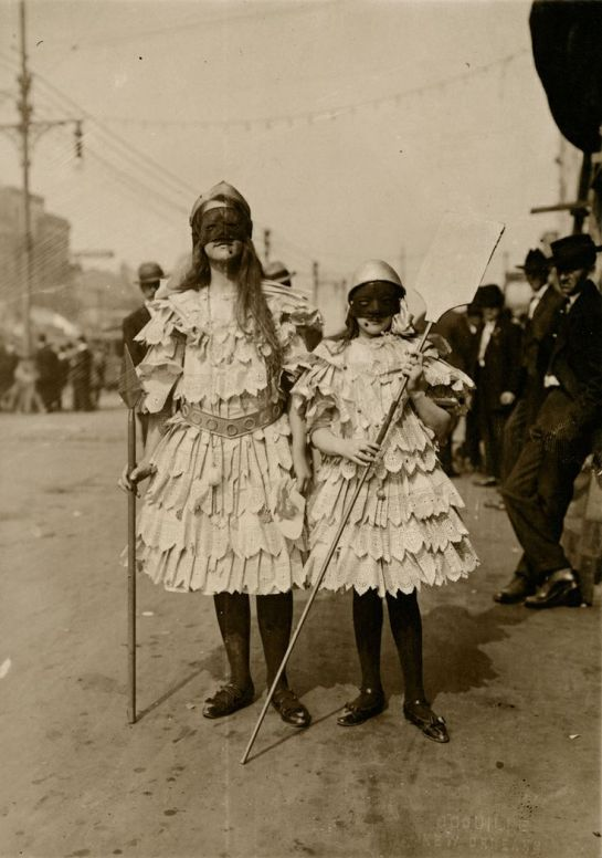 Children wearing Mardi Gras costumes in New Orleans, Louisiana.Photograph by John Hypolite Coquille, National Geographic