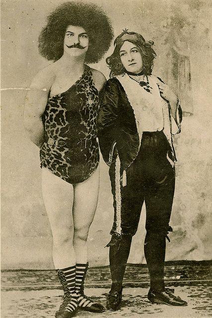 Vintage Circus People Photo